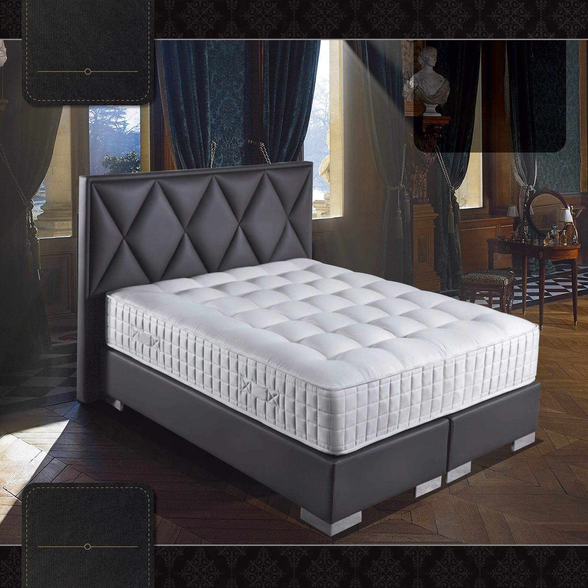 diamond boxspring met opbergruimte luxor slapen. Black Bedroom Furniture Sets. Home Design Ideas